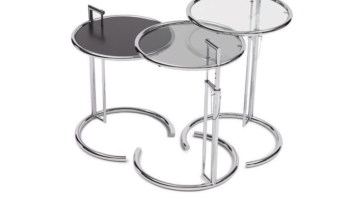Classicon adjustable-table-e-1027-glass-clear-smoked-metal