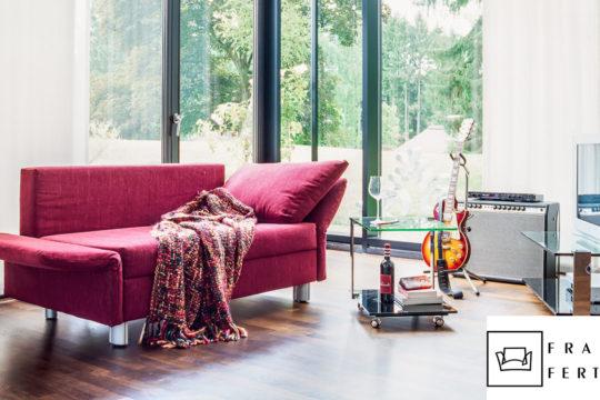 Funktionssofa Luino in pink von Franz Fertig bei Möbel Meiss