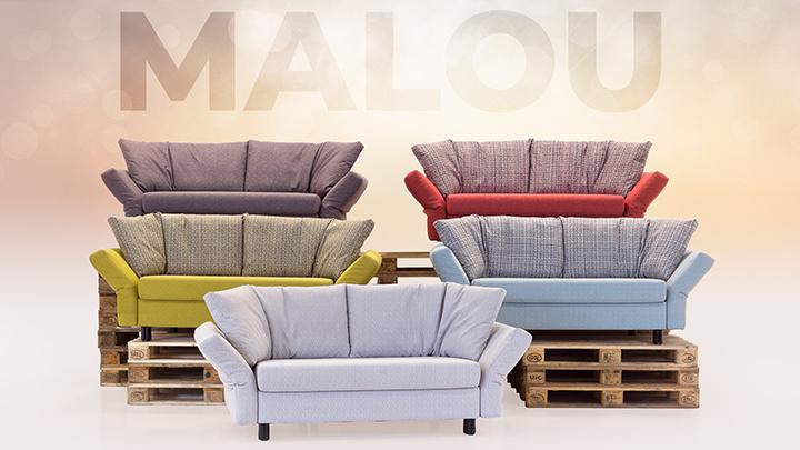 Sofa Malou Farbvielfalt von Franz Fertig