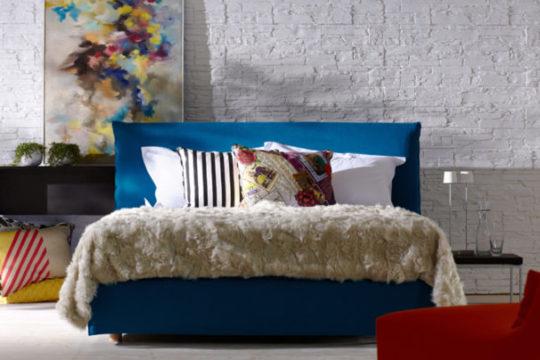Schramm Purebeds Loft in blau bei Möbel Meiss
