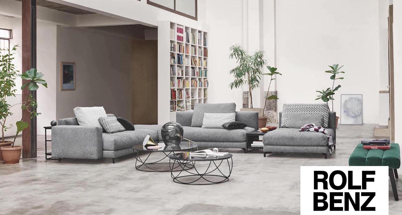Graue Wohnlandschaft von Rolf Benz bei Möbel Meiss