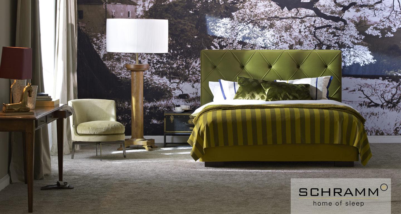 Schramm Bett Origins Opal Plus in grün bei Möbel Meiss