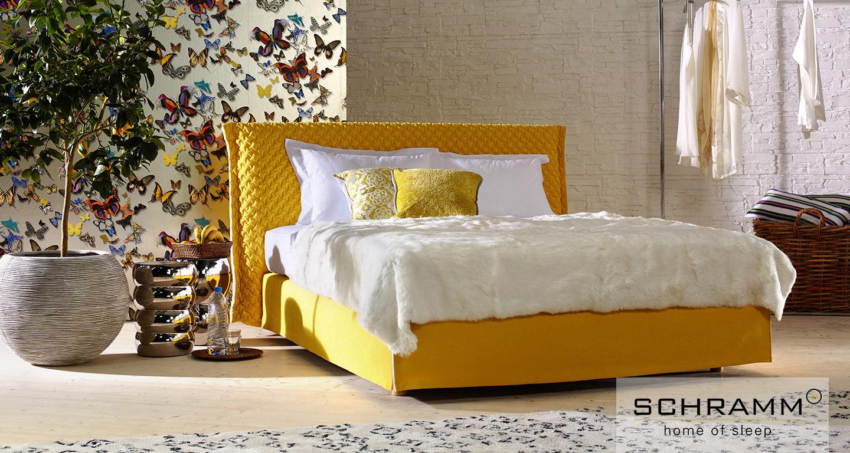 Schramm Bett Purebeds Loft gelb
